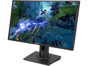 "ASUS MG248QR Black 24"" eSports Gaming Monitor FHD (1920x1080) FreeSync/Adaptive Sync 144Hz 1ms VESA Height Adjustable Stand DP HDMI DVI 3.5mm Earphone Jack"