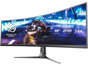 "ASUS ROG Strix XG49VQ 49"" Super Ultra-Wide HDR Curved Gaming Monitor - 32:9 (3840 x 1080), 144Hz, FreeSync 2, DisplayHDR 400, Eye Care with DP HDMI"