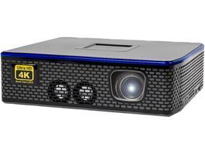 AAXA 4K1 Mini LED Home Theater Projector, Native 4K UHD Resolution, Dual HDMI with HDCP 2.2,  30,000 Hour LEDs, Mercury Free, 1500 Lumens, E-Focus, Portable