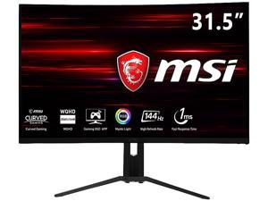 "MSI Optix MAG321CQR 32"" WQHD Non-Glare Super Narrow Bezel 1ms 2560 x 1440 Resolution 144Hz Refresh Rate FreeSync Technology Height Adjustable Curved Monitor"