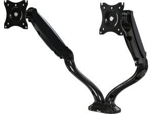 "Rosewill RMS-16002 - Dual Monitor Gas Spring Arm Desk Mount, LCD Screens 13"" - 27"", VESA: 75 / 100mm, Tilt: +90 / -45 deg., Swivel: 180 deg., Rotate: 360 deg., Max. Load: 13.2 lbs. (Per arm)"