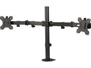 "Rosewill RMS-17001 13"" to 32"" Dual Arm Desk Mount - Max. Load 17.6 lbs., Swivel and Rotate, VESA 75x75, 100x100mm, Black, Compatible with Samsung, Vizio, Sony, Panasonic, LG and Toshiba TV"