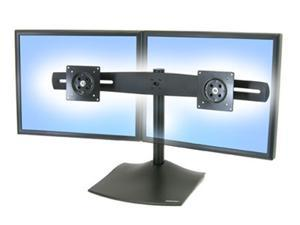 Ergotron 33-322-200 DS100 Dual-Monitor Desk Stand and Mount - Horizontal