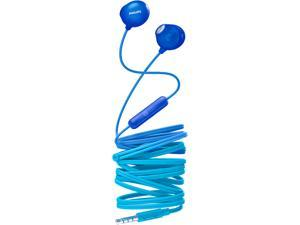 Philips UpBeat SHE2305 Wired Earbuds, Natural Fit, In-line Mic - Transluscent Blue