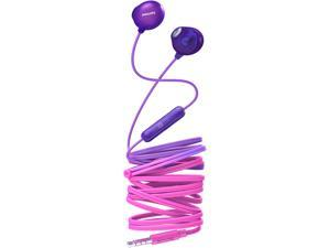 Philips UpBeat SHE2305 Wired Earbuds, Natural Fit, In-line Mic - Radical Purple