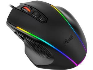 Rosewill NEON M54 RGB Gaming Mouse with Adjustable Weight Tuning and Interchangeable Side Plates, On-The-Fly 7200 DPI Optical Sensor, 8 Programmable Buttons, 11 Dynamic RGB LED Backlight Modes