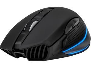 Rosewill Wireless Rechargeable Gaming Mouse with USB Wired Mode, 10000 dpi Optical Sensor, On-The-Fly Polling Rate, Dynamic 7-Color LED Rim Lighting, 8 Programmable Buttons/Comfortable Grip - NEON M61