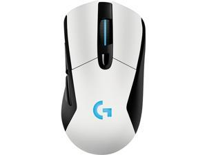 Logitech G703 LIGHTSPEED Wireless Gaming Mouse, RGB Lighting, 12,000 dpi w/ no Smoothing, 10g Removable Weight, White, with POWERPLAY Wireless Charging Compatibility