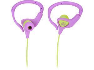Wicked WIC-WI-3152 MissFit Earhugger Sport Earbud - Orchid/Lime