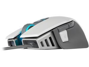 Corsair M65 RGB ELITE Tunable FPS Gaming Mouse, White, Backlit RGB LED, 18000 dpi, Optical