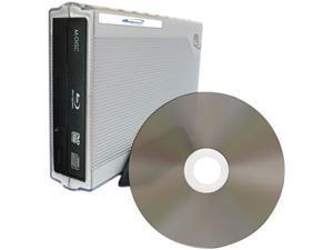 M-Disc External Blu-ray Burner Drives USB 3.0 & M-Disc BD-R - 10 Disc Spindle