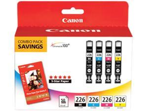 Canon CLI-226 Ink Cartridge - Combo Pack - Black/Cyan/Magenta/Yellow/Paper