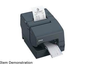 Epson TM-H6000IV Hybrid Multifunction Impact Slip and Thermal Receipt Printer, No MICR / With Drop-in Validation, USB, Serial, Auto Cutter, Dark Gray (No Power Supply) - C31CB25A8771