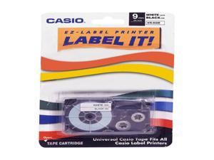 Casio XR9-WES 9 mm Black on White Label Printer Tape For CWL-300