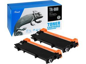 Rosewill Replacement Toner Cartridge for Brother TN660 TN-660, 5200 Total Page Yield, Black Ink Compatible with Brother Laser Printer (2-Pack)