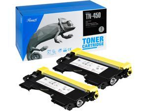 Rosewill Replacement Toner Cartridge for Brother TN450 TN-450 TN420 TN-420, 5200 Total Page Yield, Black Ink Compatible with Brother Laser Printer (2-Pack)