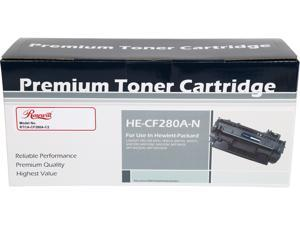 Rosewill RTCA-CF280A-C2 Compatible Toner Cartridge Replaces HP 80A (CF280A)&#59; Black