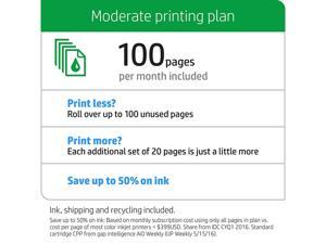 HP Instant Ink, 1st Month Enrollment Key, 100 Page Plan (1VU19AN)