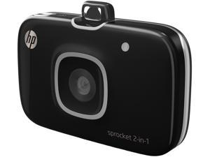 HP Sprocket 2-in-1 Smartphone Photo Printer and Camera - Black (2FB97A)