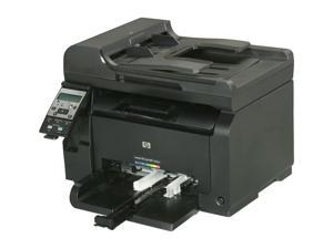 HP LaserJet Pro 100 M175nw MFC / All-In-One Up to 17 ppm Up to 600 x 600 dpi Color Print Quality Color Wireless 802.11b/g/n Laser Printer