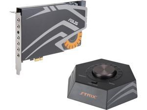 ASUS STRIX RAID PRO 8 Channels Analog Playback: 44.1K / 48K / 88.2K / 96K / 176.4K / 192KHz  Analog Recording:44.1K / 48K / 88.2K / 96K / 176.4K / 192KHz PCI Express Interface Sound Card