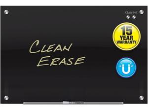 Quartet G3624B Quartet Infinity™ Glass Magnetic Dry-Erase Board, 3' x 2', Black Surface, Frameless