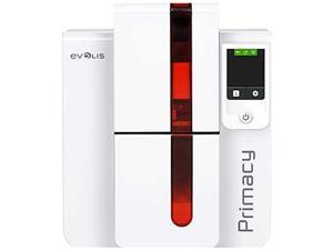 Evolis PM1H0000LS Primacy LCD Simplex Expert Card Printer - Single-sided - White/Red