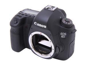Canon EOS 6D (8035B002) Digital SLR Cameras Black Approx. 20.2 MP Digital SLR Camera - Body Only
