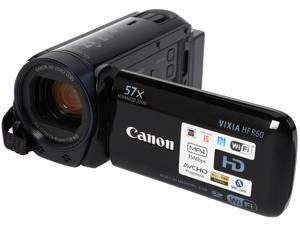 "Canon VIXIA HF R60 0279C001 Black 1/4.85"" CMOS 3.0"" 230K Touch LCD 32X Optical Zoom Full HD HDD/Flash Memory Camcorder"