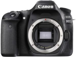 Canon EOS 80D 1263C004 Black 24.2 MP Digital SLR Camera - Body