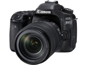 Canon EOS 80D 1263C006 Black Digital SLR Camera with 18-135mm IS USM Lens KIT
