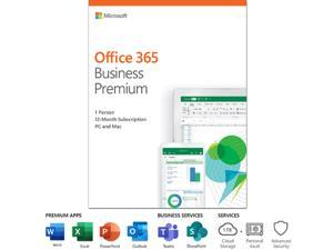 Microsoft Office 365 Business Premium (Customer Manager, Bookings, Invoicing) 12-month subscription, 1 person, PC/Mac Key Card