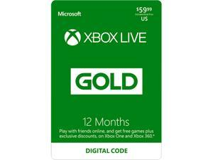 Xbox LIVE 12 Month Gold Membership US (Digital Code)