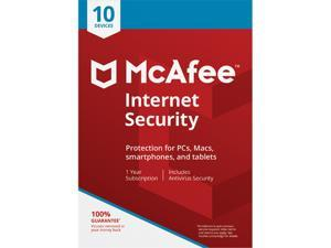McAfee Internet Security, 10 Devices 1 Year - Download