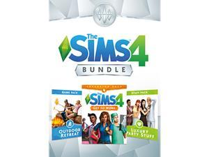 The Sims™ 4 Bundle - Get to Work, Outdoor Retreat, Luxury Party Stuff - PC Digital [Origin]