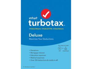 Intuit TurboTax Deluxe 2019, Federal with State + Efile for Windows/MAC