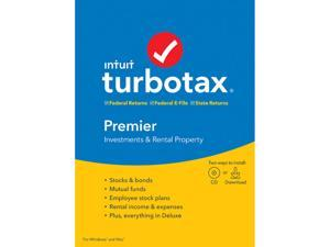 Intuit TurboTax Premier 2019, Federal with State + Efile for Windows/MAC