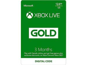 Xbox LIVE 3 Month Gold Membership US (Digital Code) [Promotional Only]