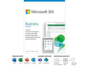 Microsoft 365 Business Standard | 12-Month Subscription, 1 person | Premium Office apps | 1TB OneDrive cloud storage | PC/Mac Keycard