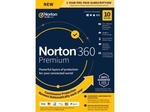 Norton 360 Premium - Antivirus Software for 10 Devices - Includes VPN, PC Cloud Backup & Dark ...