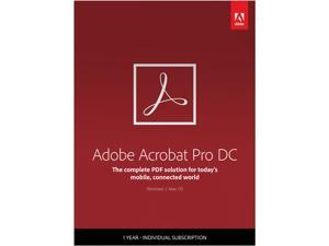 Adobe Acrobat Pro DC for Windows & Mac - Digital Membership [Prepaid 1 Year]