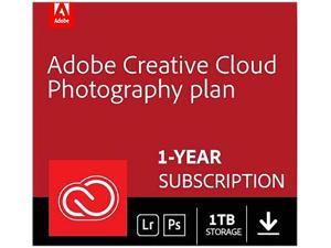 Adobe Creative Cloud Photography plan with 1TB - 1 Year Subscription (PC/MAC Digital)