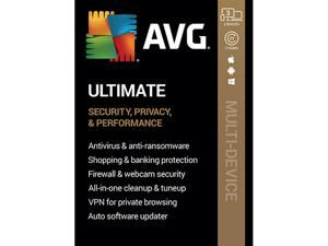 AVG AVG Ultimate [Security, Privacy and Performance] 2020, 3 Devices 2 Years - Download