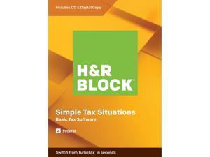 H&R BLOCK Tax Software Basic 2019