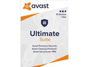 Avast Ultimate Suite [Security, Cleanup and VPN] 2020, 10 Devices 1 Year [Key Card]