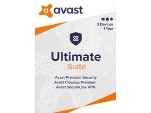 Avast Ultimate Suite [Security, Cleanup and VPN] 2020, 3 Devices 1 Year [Key Card]