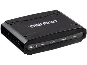 TRENDnet TPA-311 Mid-Band Coaxial Network Adapter Up to 256Mbps (PHY Rate) Up to 193Mbps (Throughput)