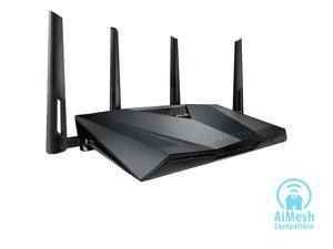 ASUS AC3100 Wi-Fi Dual-band Gigabit Wireless Router with 4x4 MU-MIMO, 4 x LAN Ports, AiProtection Network Security and WTFast Game Accelerator, AiMesh Whole Home Wi-Fi System Compatible (RT-AC3100)