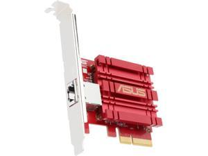 ASUS XG-C100C 10G Network Adapter PCI-E x4 Card with Single RJ-45 Port and built-in QoS for Use with Windows 10 / 8.1 / 8 / 7 and Linux Kernel 4.4 / 4.2 / 3.6 / 3.2 (XG-C100C)