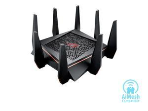 ASUS ROG AC5300 Wi-Fi Tri-band Gigabit Wireless Router with 4x4 MU-MIMO, 8 x LAN Ports, AiProtection Network Security and WTFast Game Accelerator, AiMesh Whole Home Wi-Fi System Compatible (GT-AC5300)